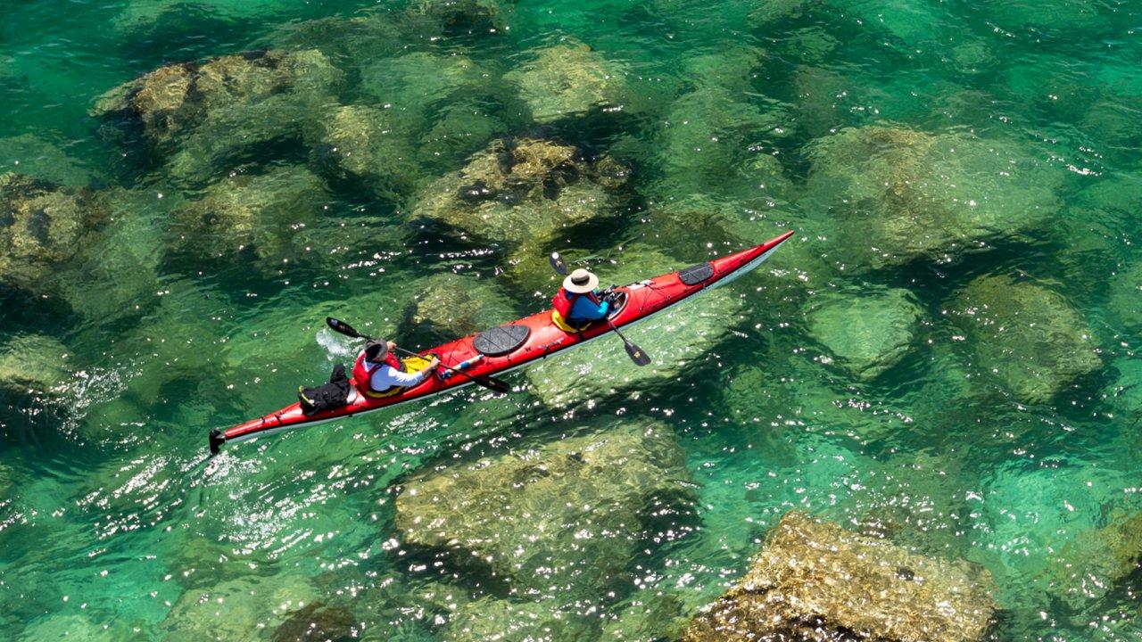 sea kayak in Baja