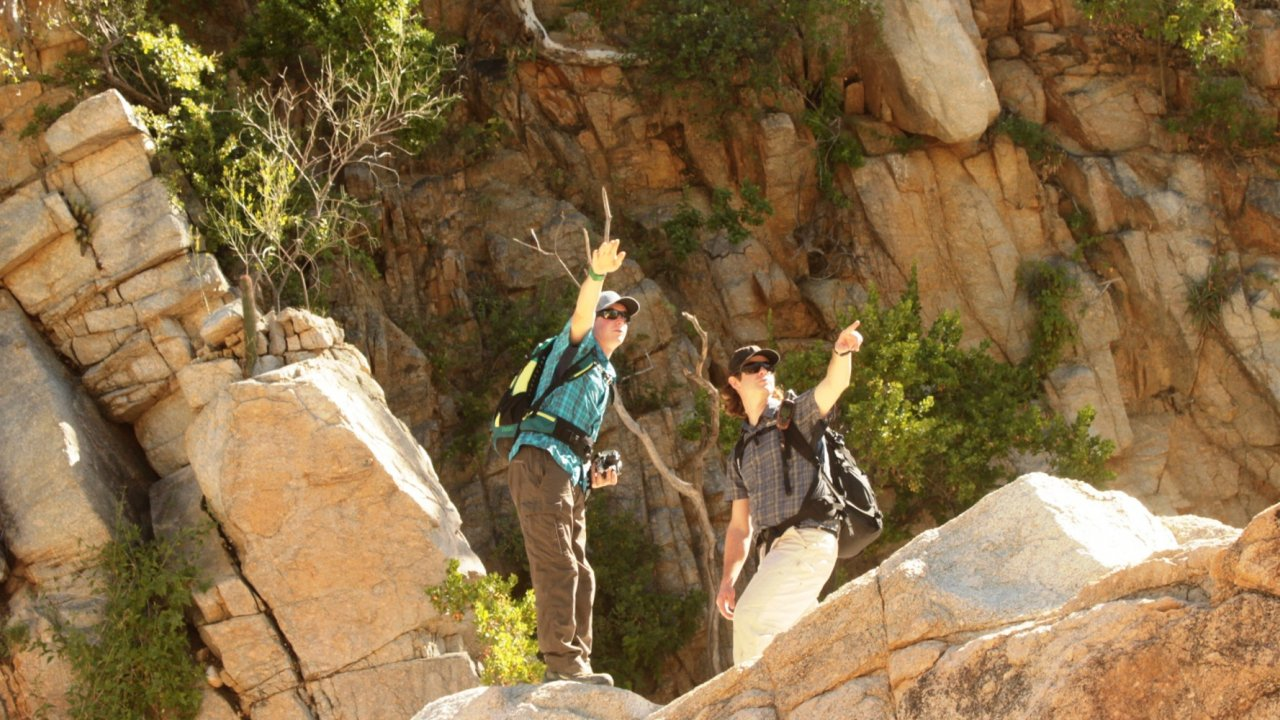 people hiking in baja