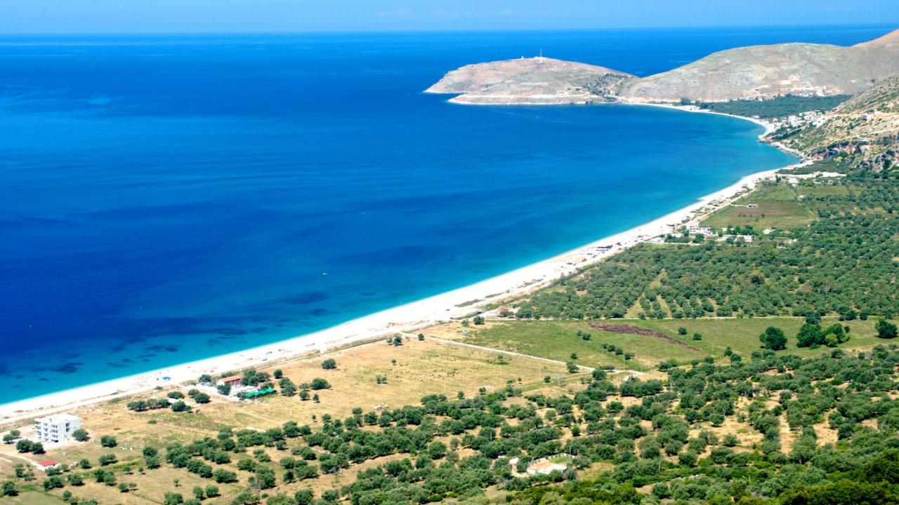 Albania coastline and ocean