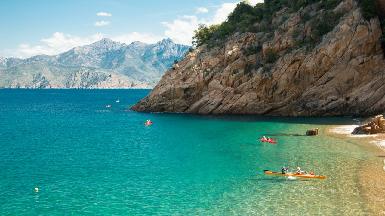 kayaking and hiking in Corsica, France