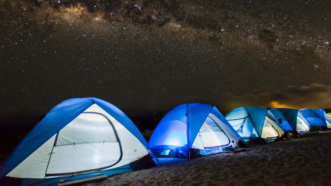 tents in the galapagos