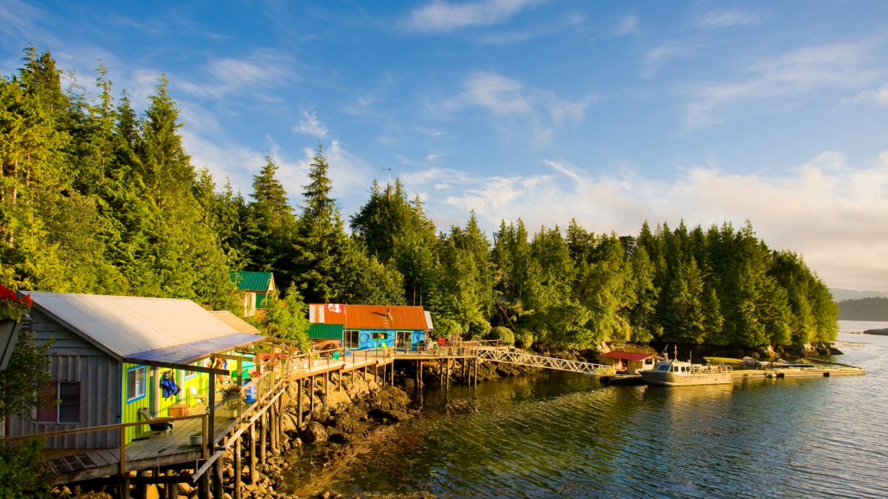 gods pocket resort on hurst island BC