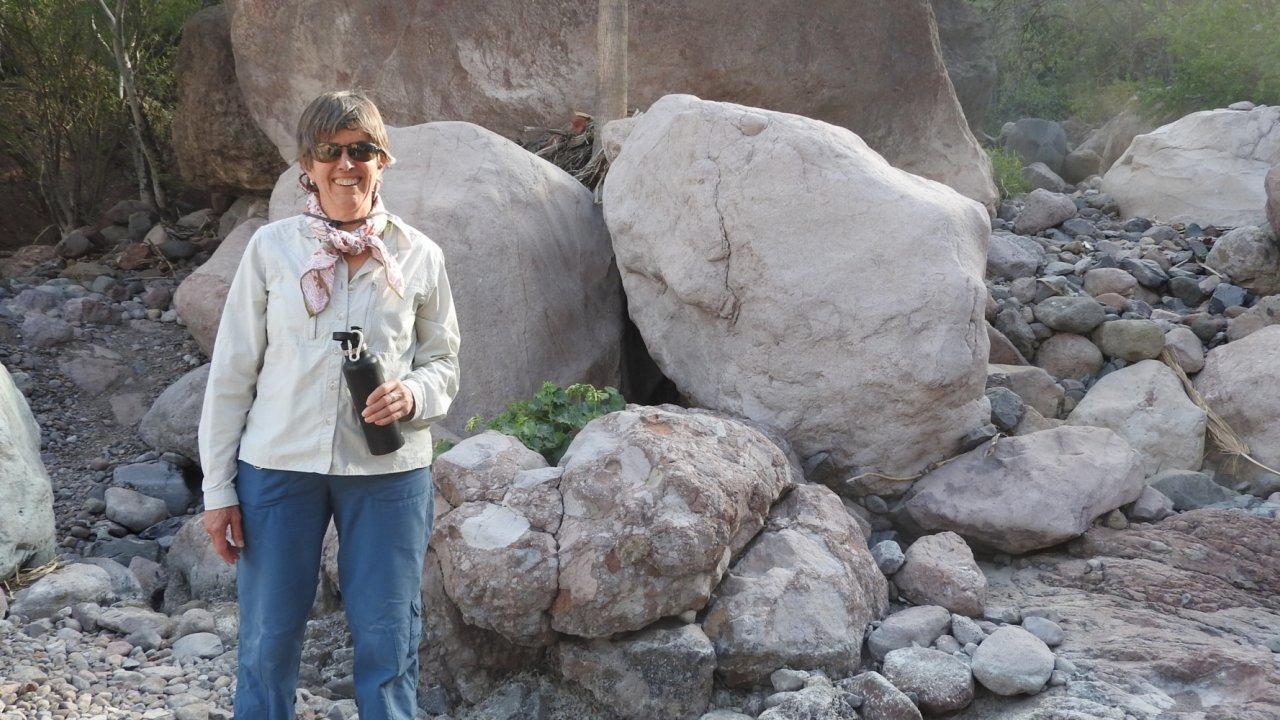 woman hiking in baja