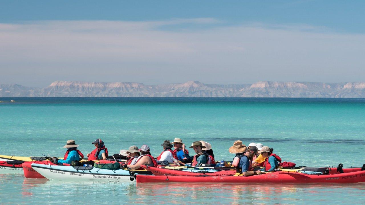 sea kayaks in LaPaz Baja