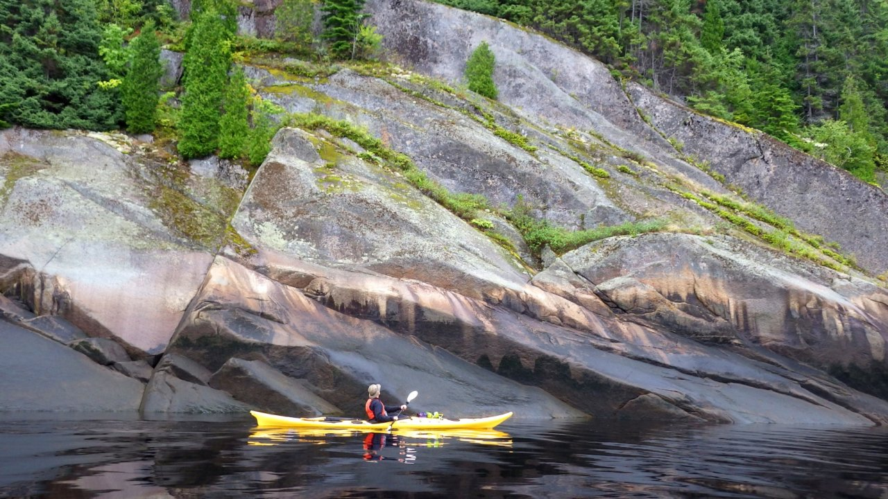 sea kayak in quebec fjord