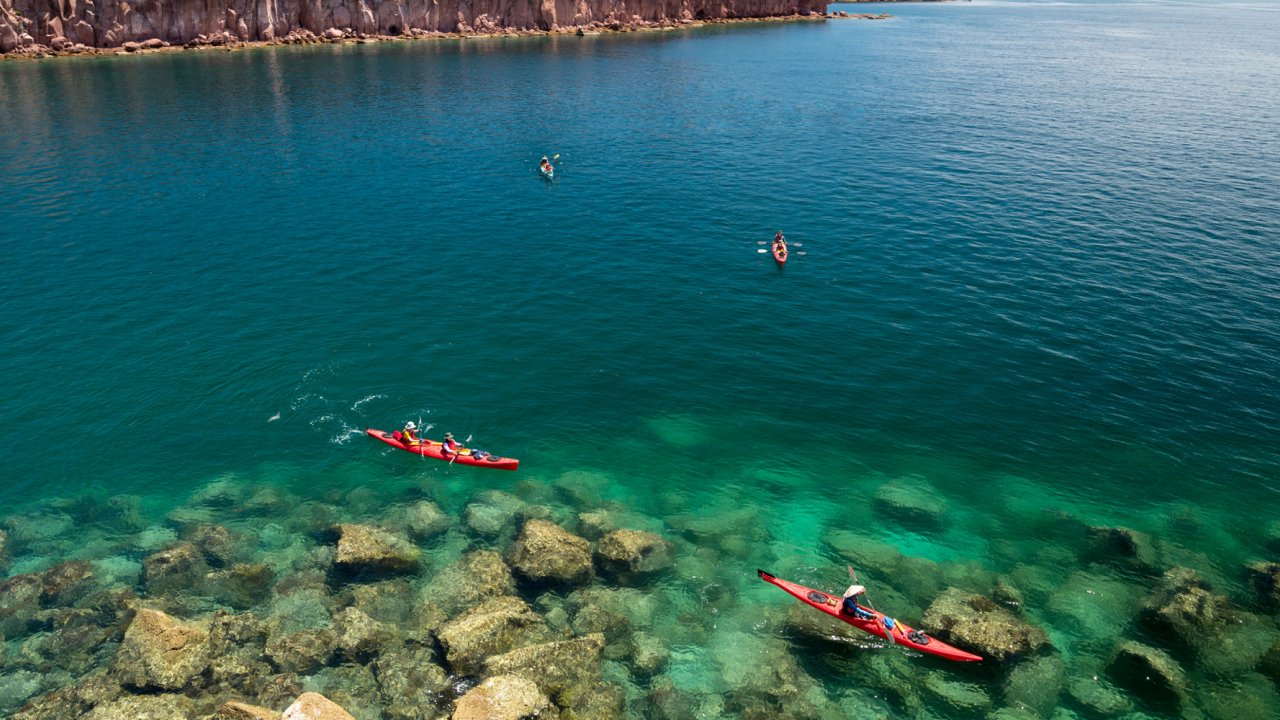 clear waters in Sea of Cortez