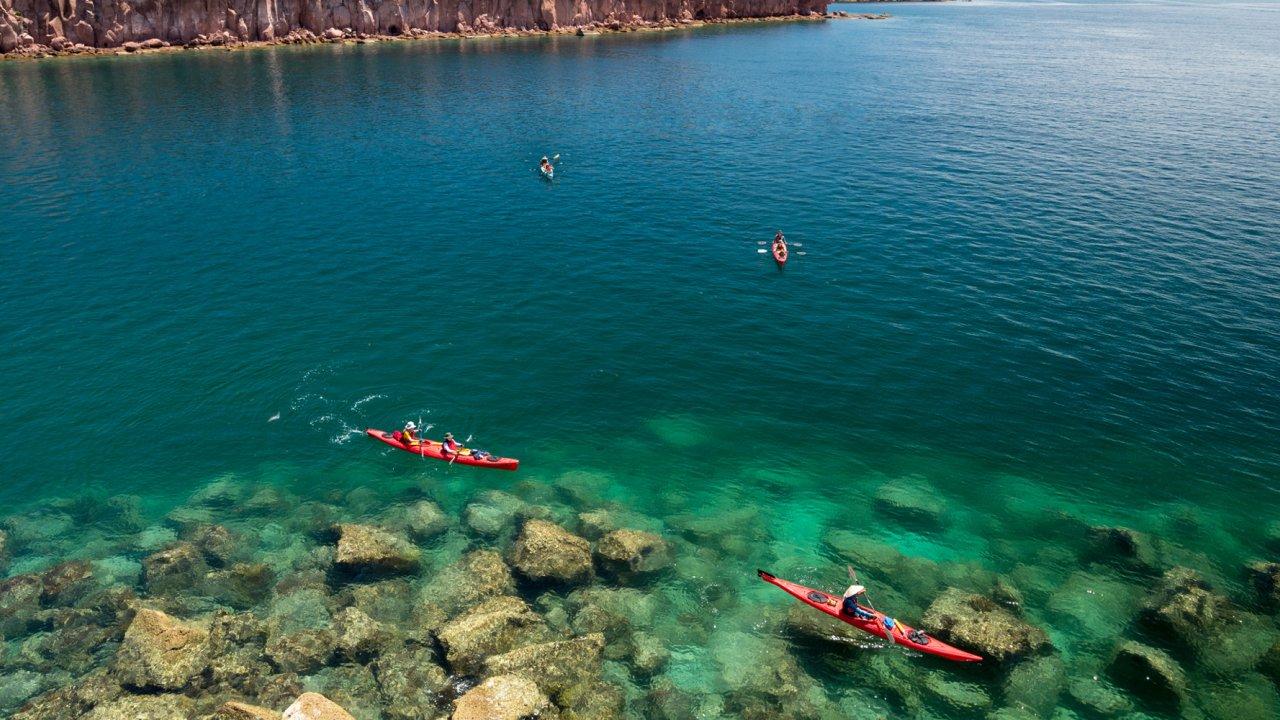 sea kayaks in LaPaz Baja
