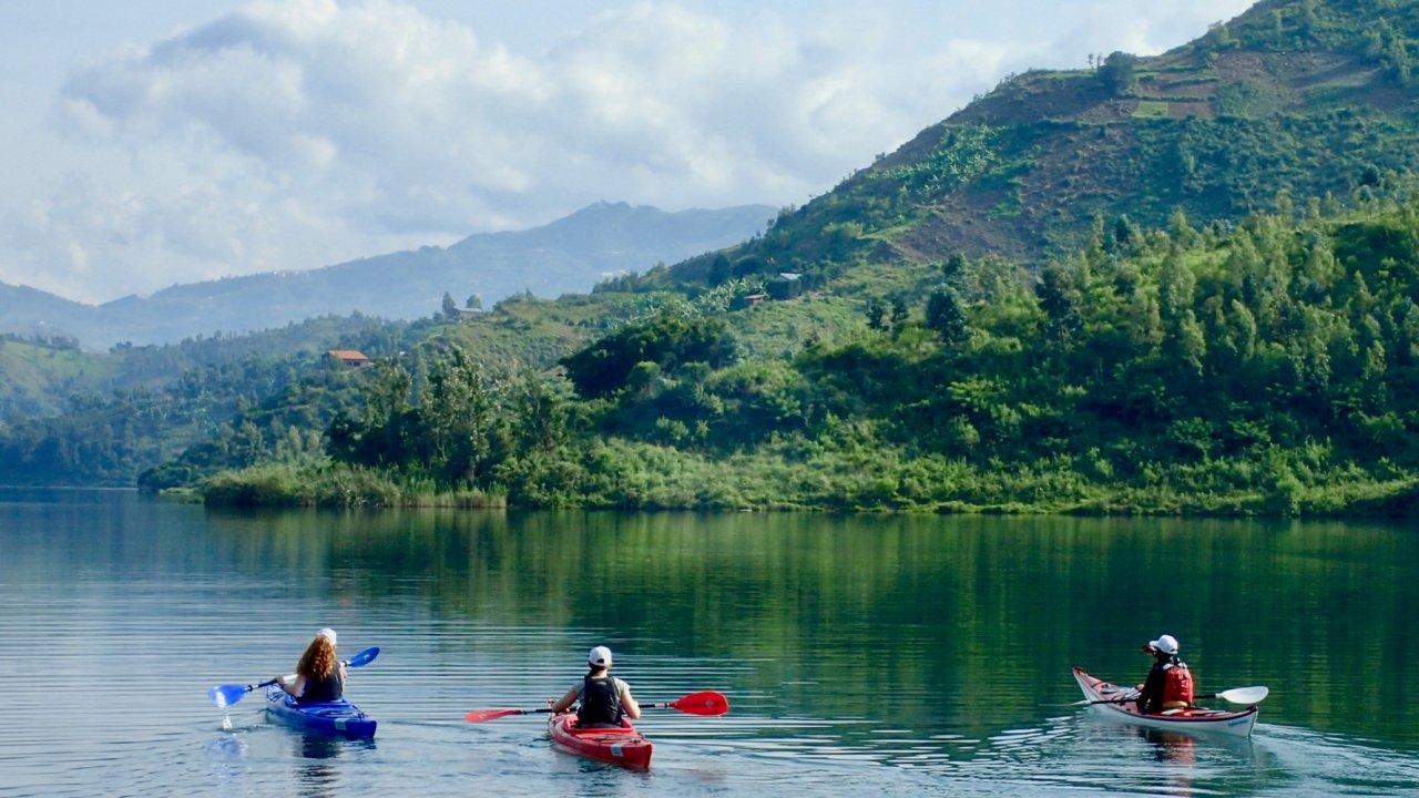 lake kayaking Rwanda