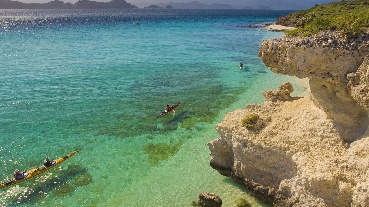 kayak in Loreto, Baja