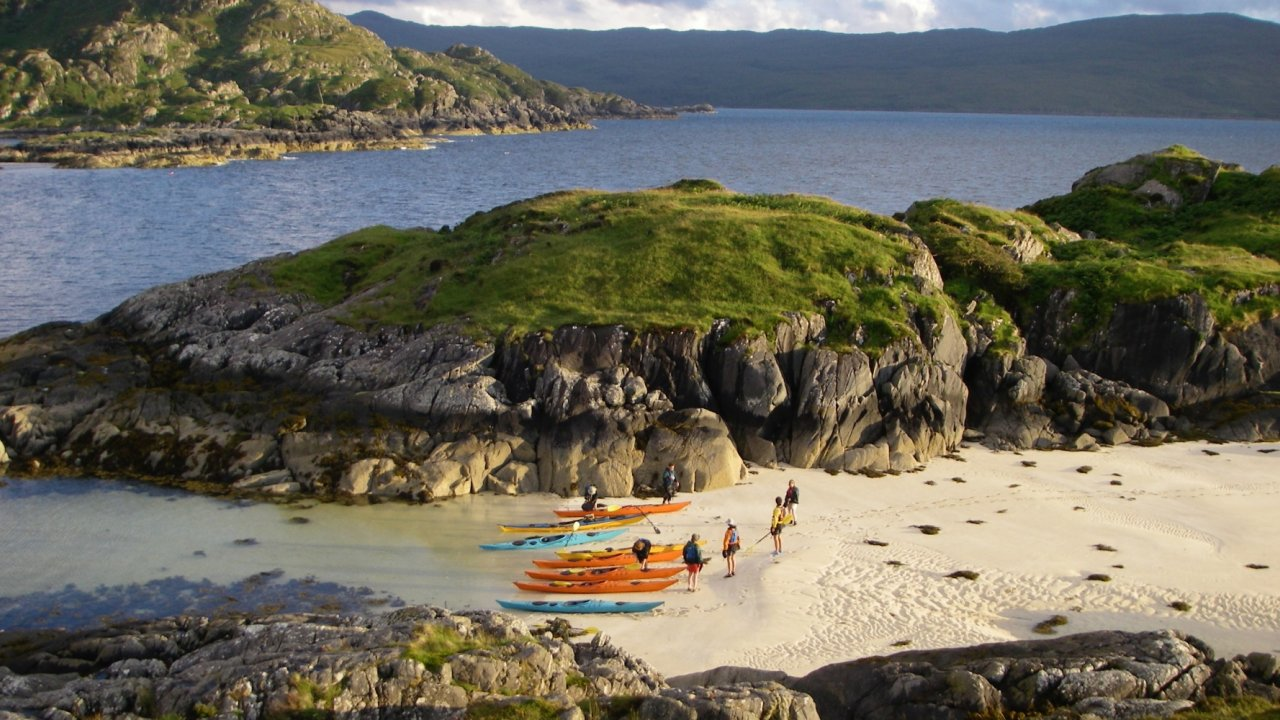 sea kayaks on tour in Scotland