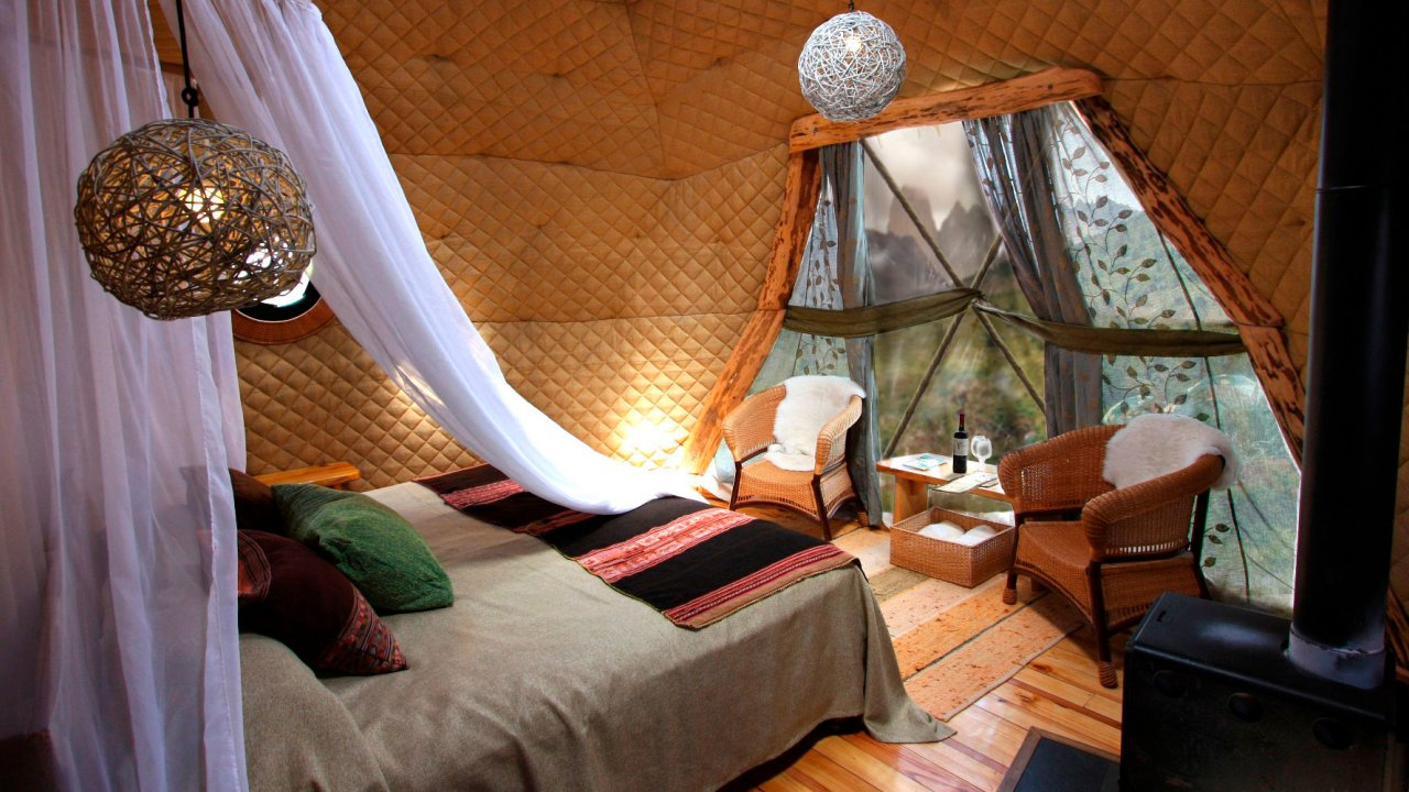bedroom dome in patagonia