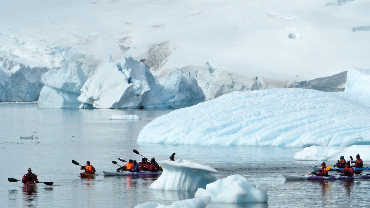 sea kayaks in antarctica