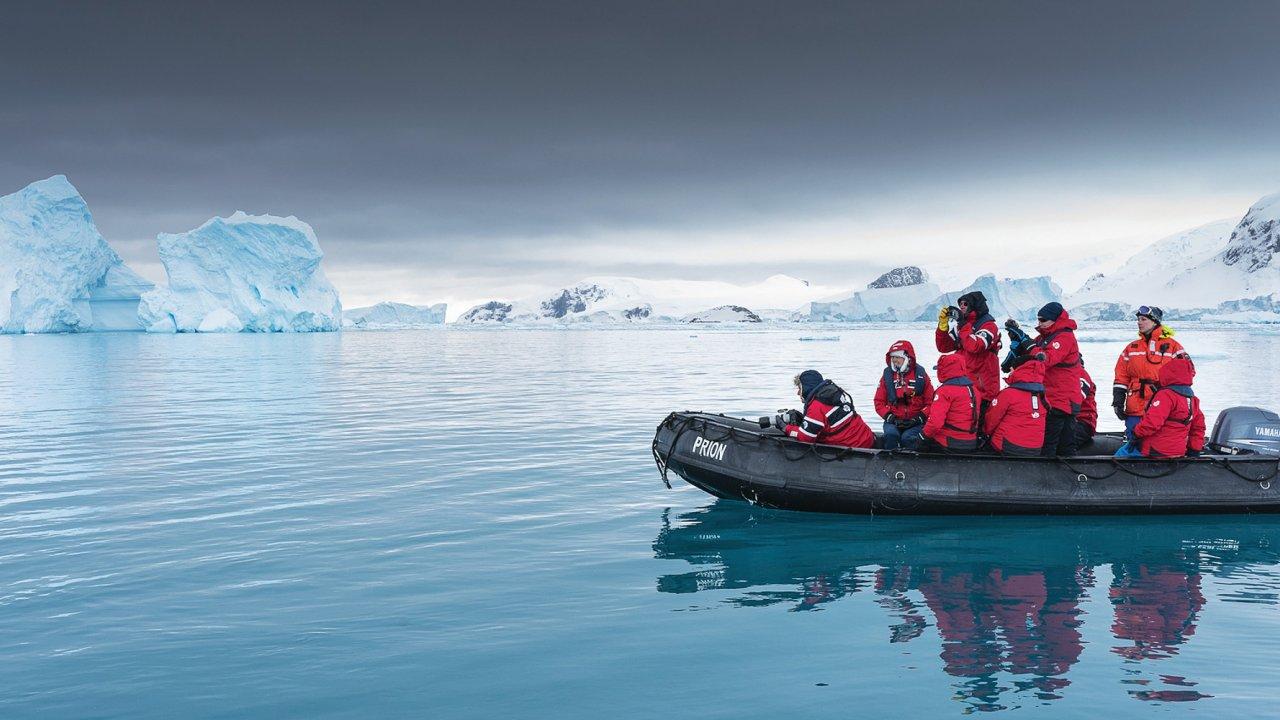 zodiac in antarctica