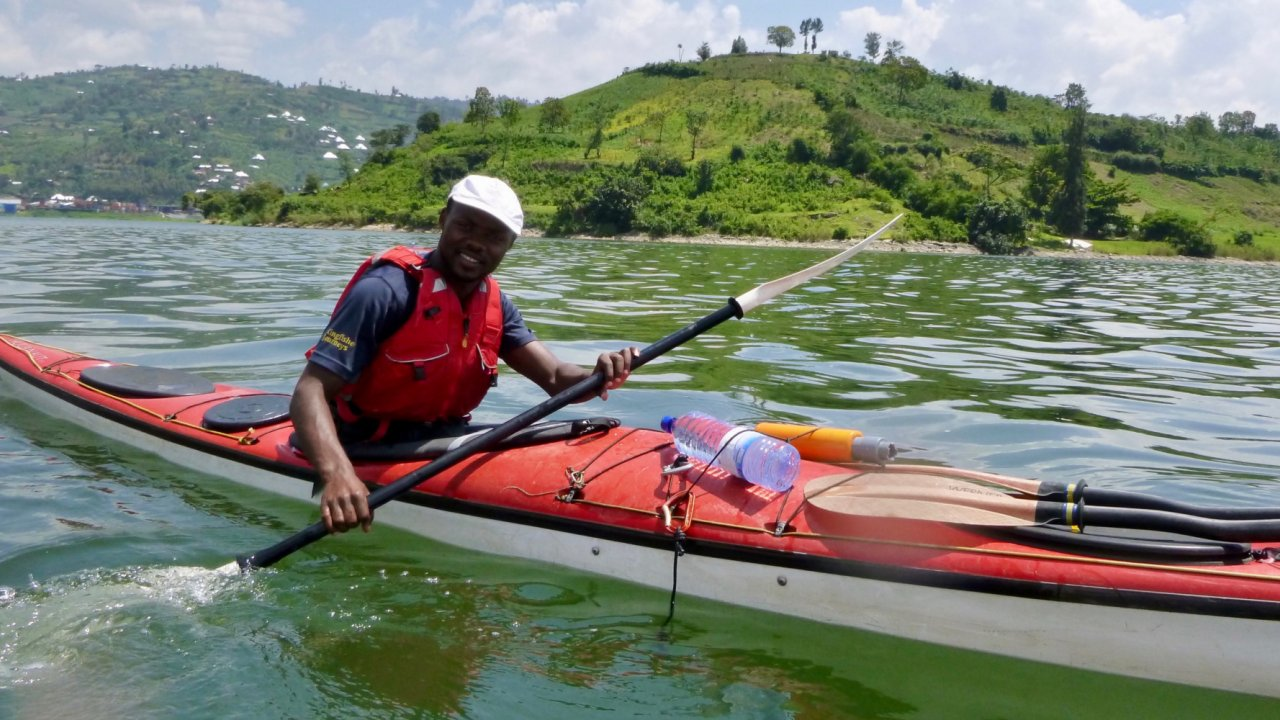 sea kayaker in Rwanda