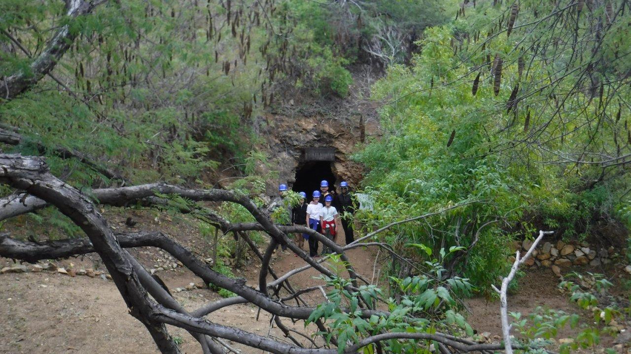 old mine entrance in Baja California Sur