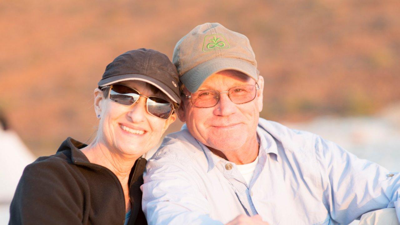 couple visiting baja