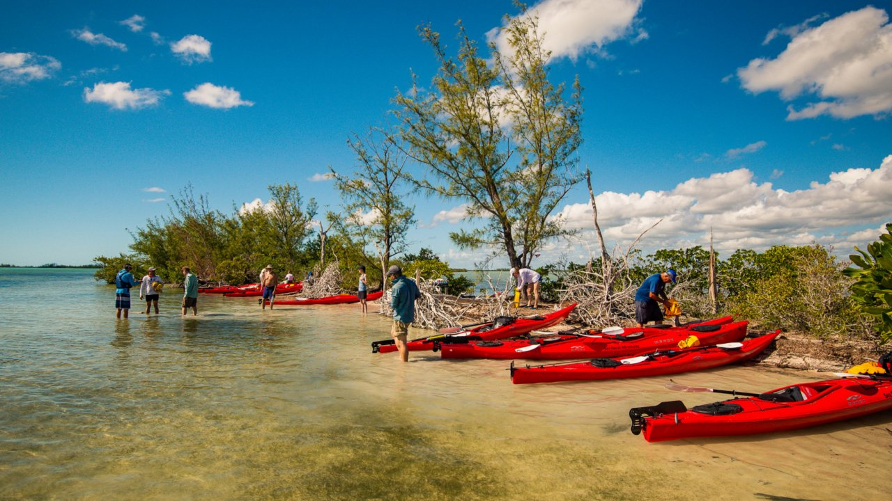 kayaks in cuba waters
