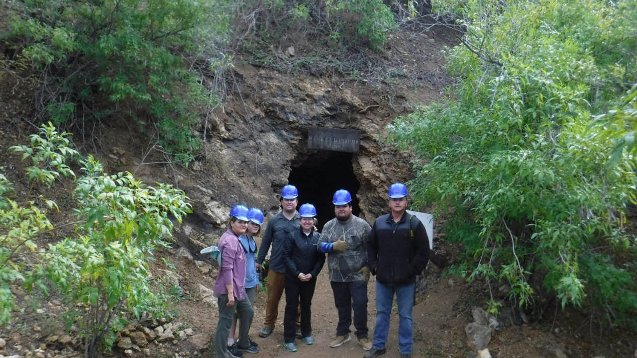group on a mining tour in baja