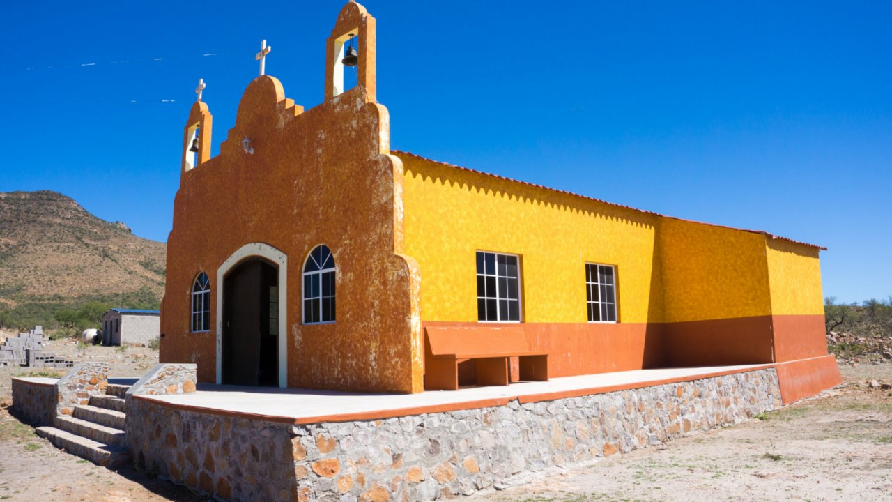 historic church in Baja