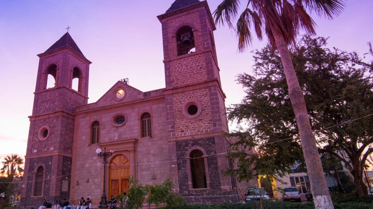old church in lapaz baja