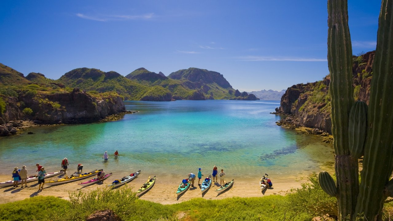 kayakers at honeymoon cove