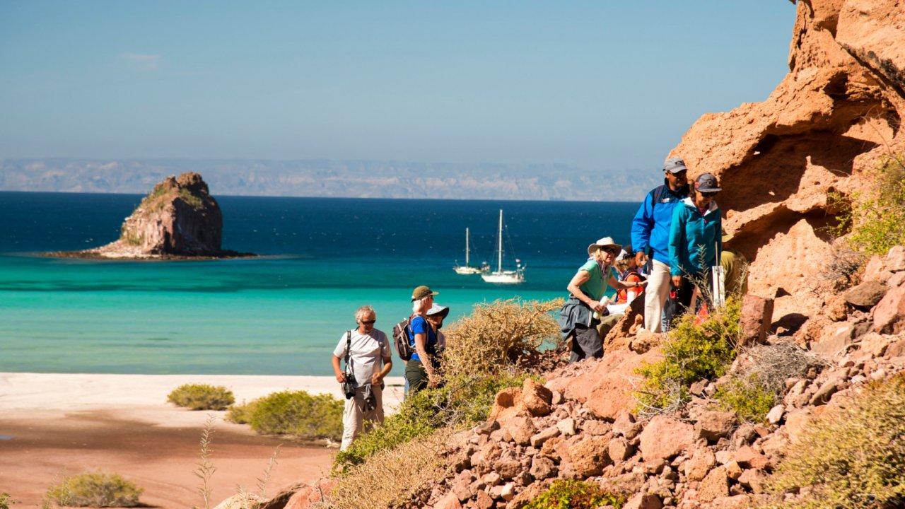 hikers on espiritu santo island