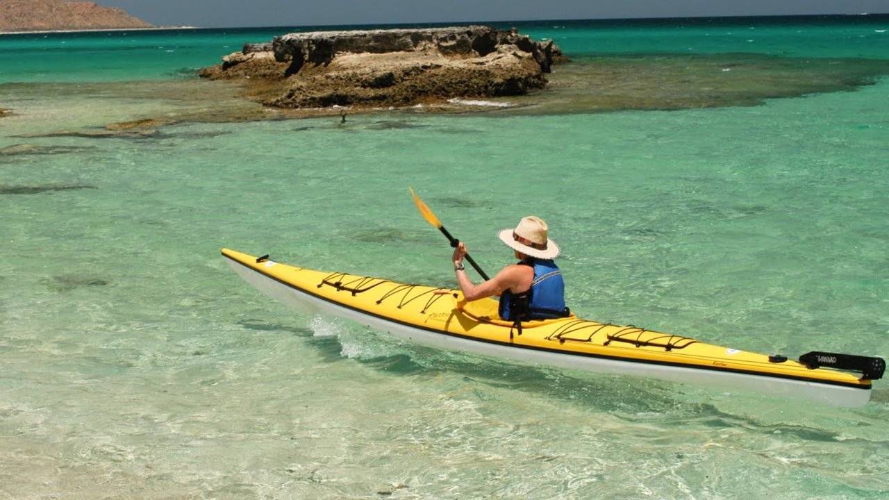 sea kayaker in sea of cortez