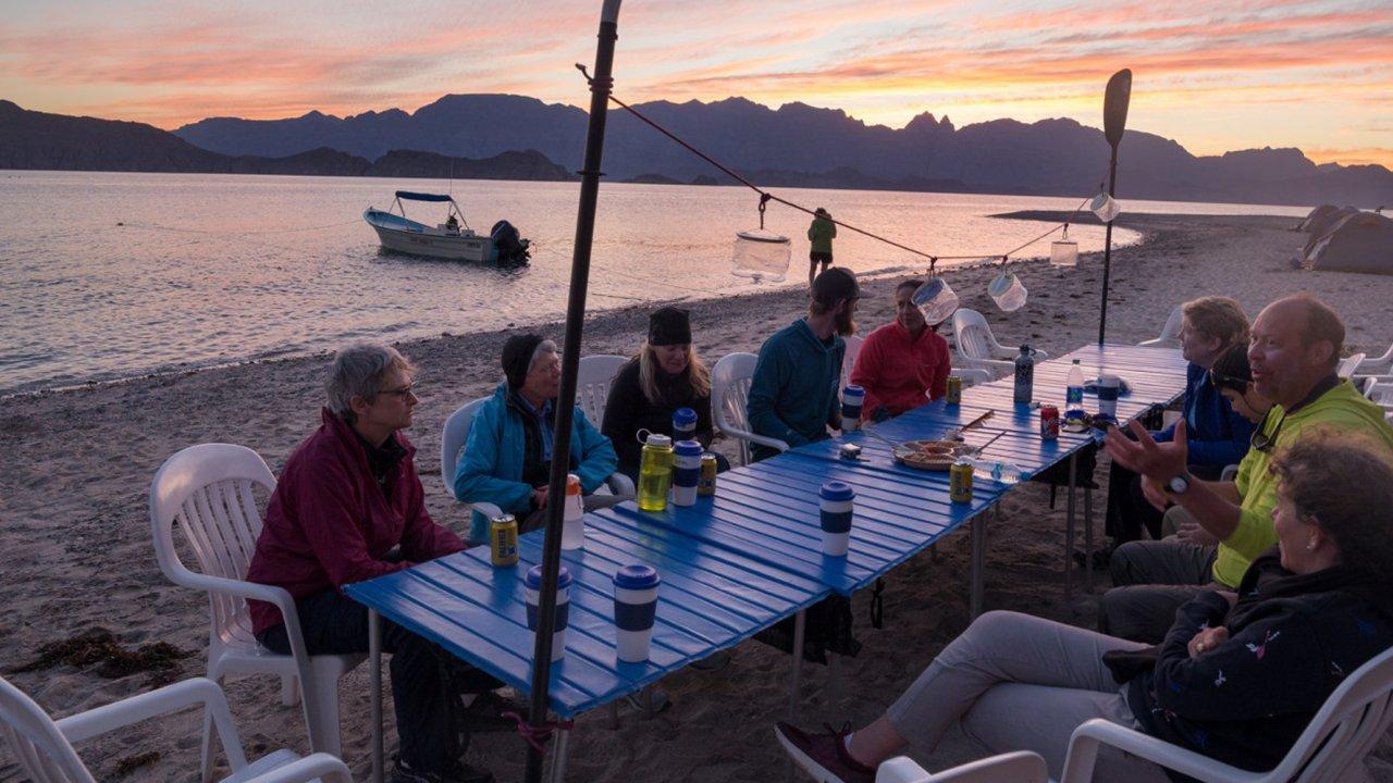 beach camp in baja