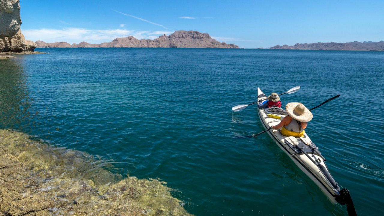 sea kayak in sea of cortez