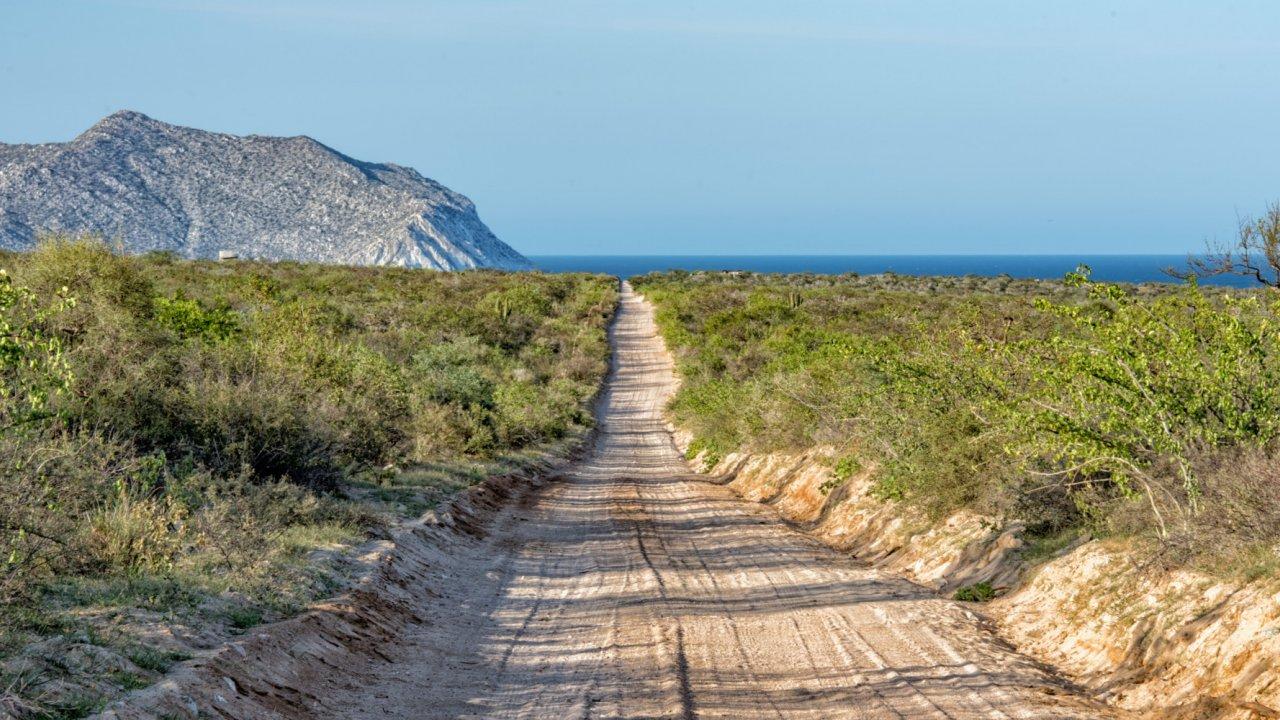 dirt road in baja