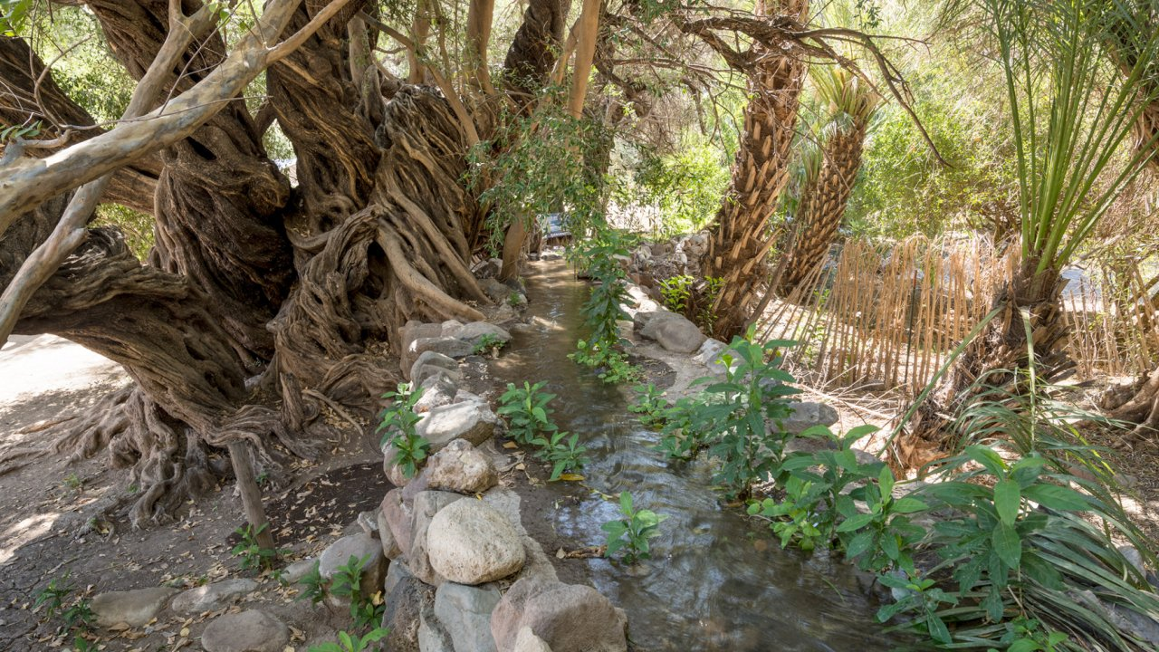 small aqueduct at san javier mission in baja
