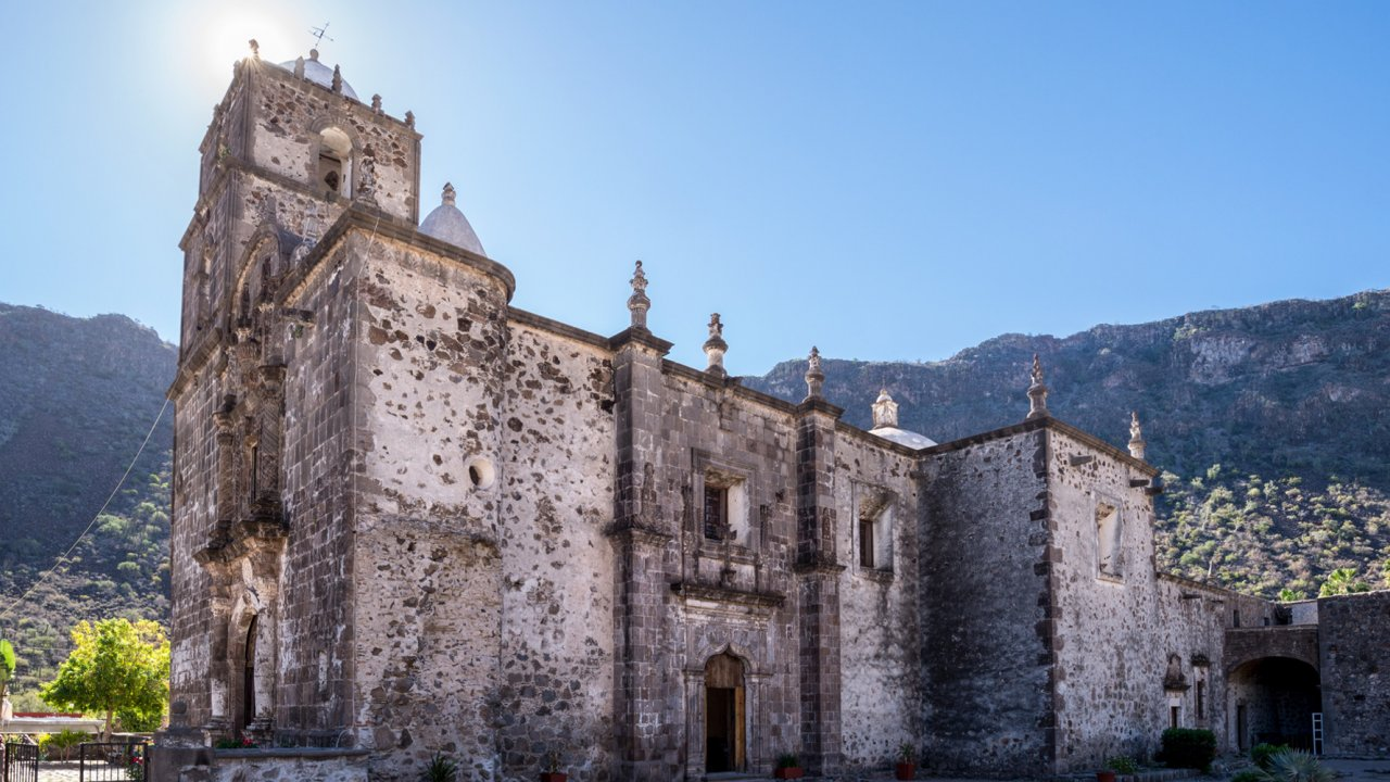 exterior view of San Javier mission in baja
