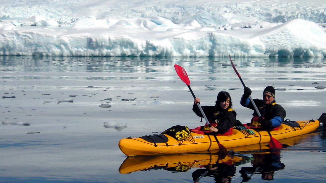 sea kayak in antarctica
