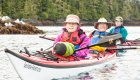 couple sea kayaking in BC