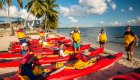 kayaks on beach in cuba