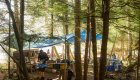 camp kitchen set up on compton island british columbia