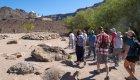 group walking near San Javier Mission, Baja