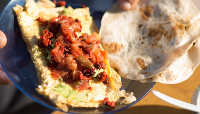 mexican omlet breakfast