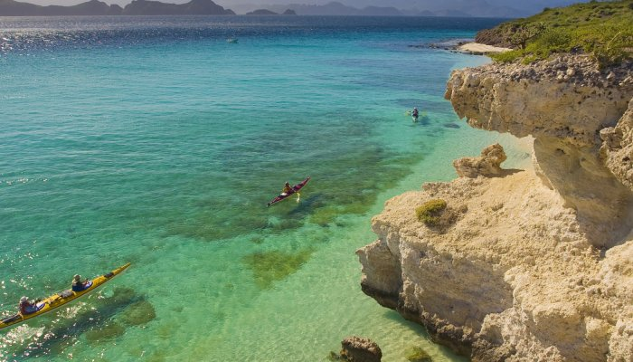 sea kayaks in Loreto Baja